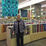 Here I am at Hancock's of Paducah, quilter's heaven! The fabric store is 6 times bigger than you see here!
